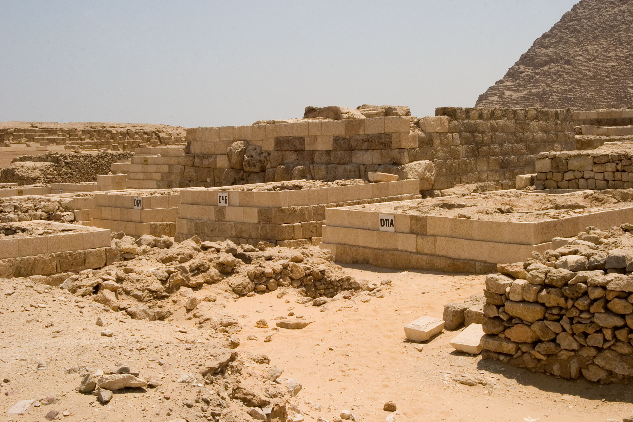 Western Cemetery: Site: Giza; View: D 64, D 46, D 11A