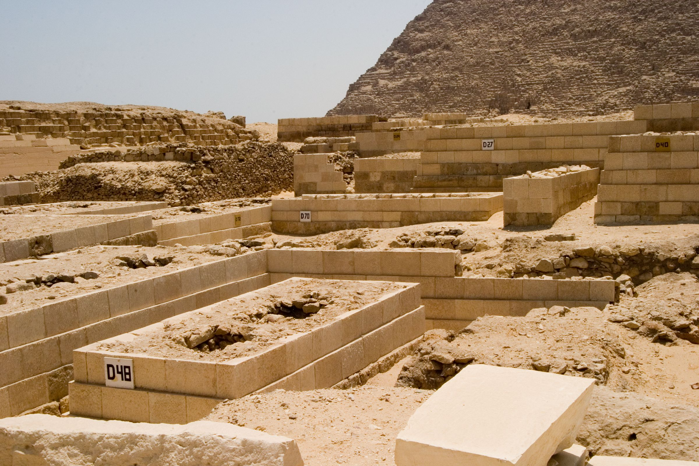Western Cemetery: Site: Giza; View: D 48, D 70, D 27