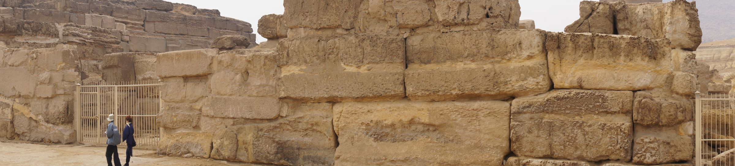 Khafre Pyramid Complex and Sphinx Complex: Site: Giza; View: Sphinx Temple, Khafre Valley Temple