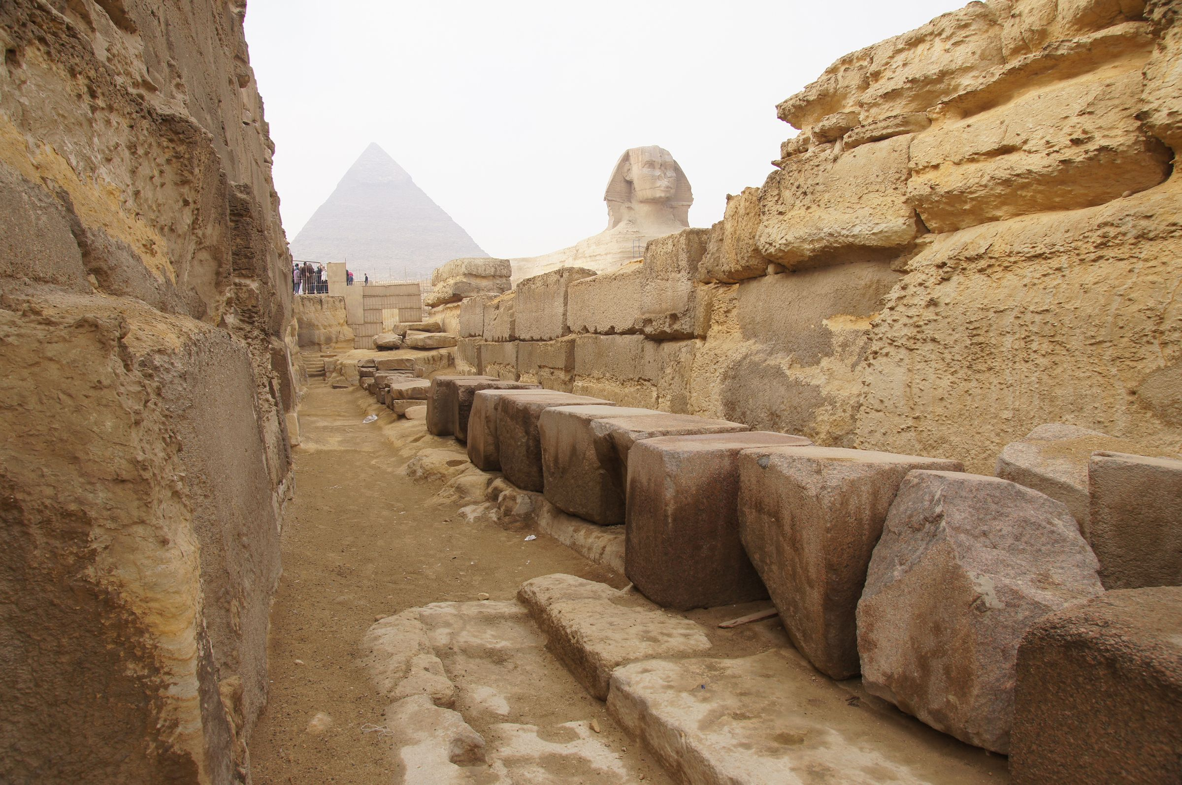 Khafre Pyramid Complex and Sphinx Complex: Site: Giza; View: Khafre Valley Temple, Sphinx Temple