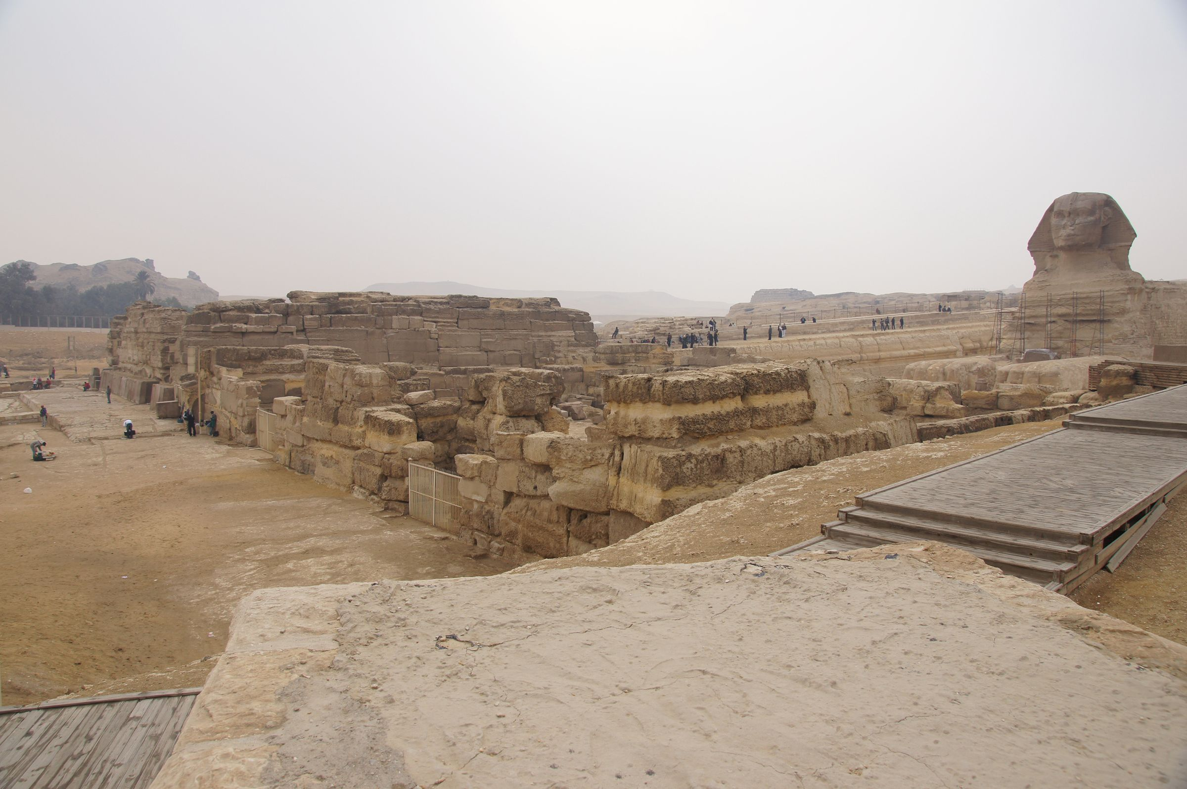 Khafre Pyramid Complex and Sphinx Complex: Site: Giza; View: Khafre Valley Temple, Sphinx Temple, Sphinx