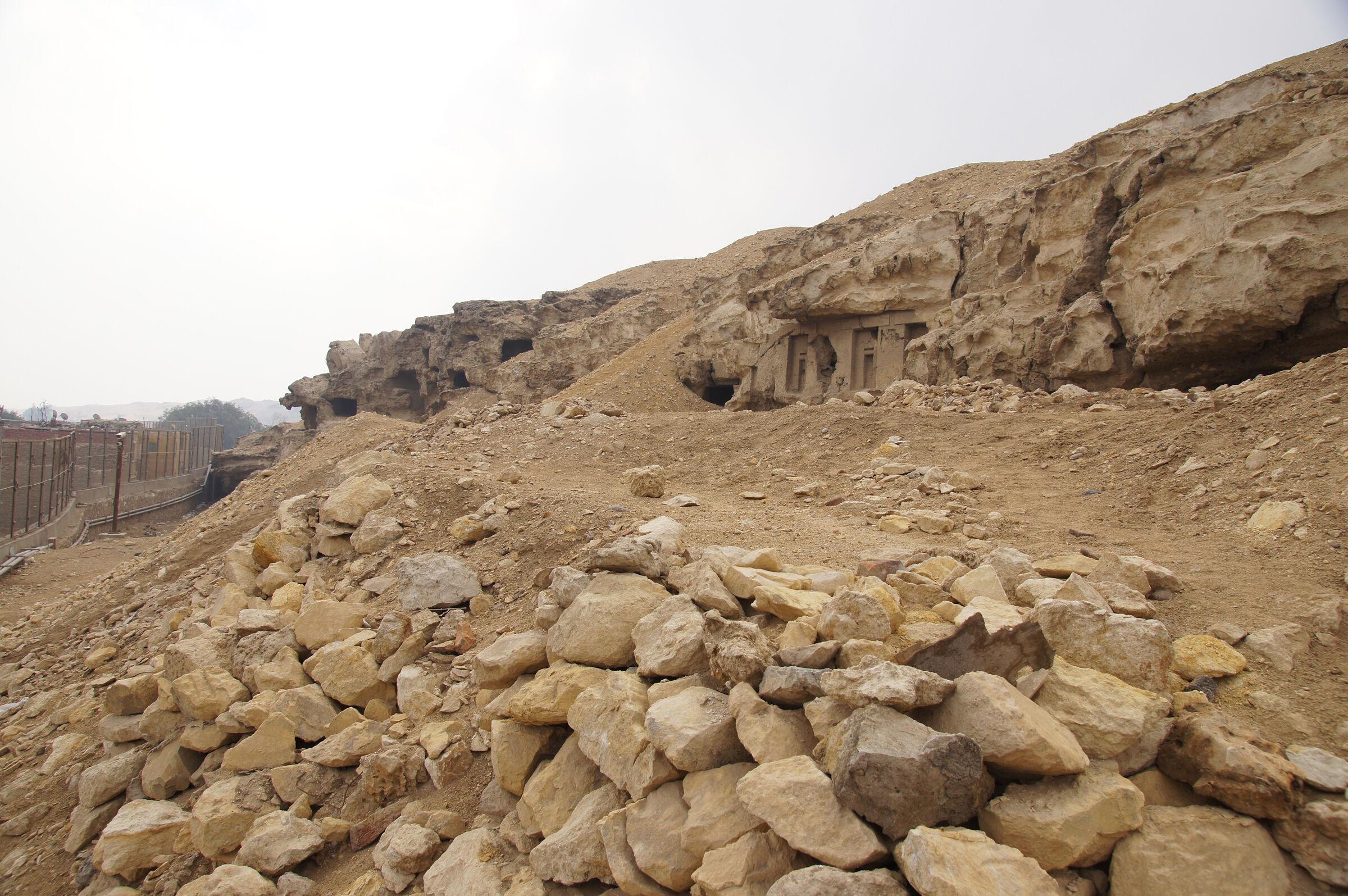 Eastern Cemetery: Site: Giza; View: Lepsius 77, Lepsius 78, Lepsius 79
