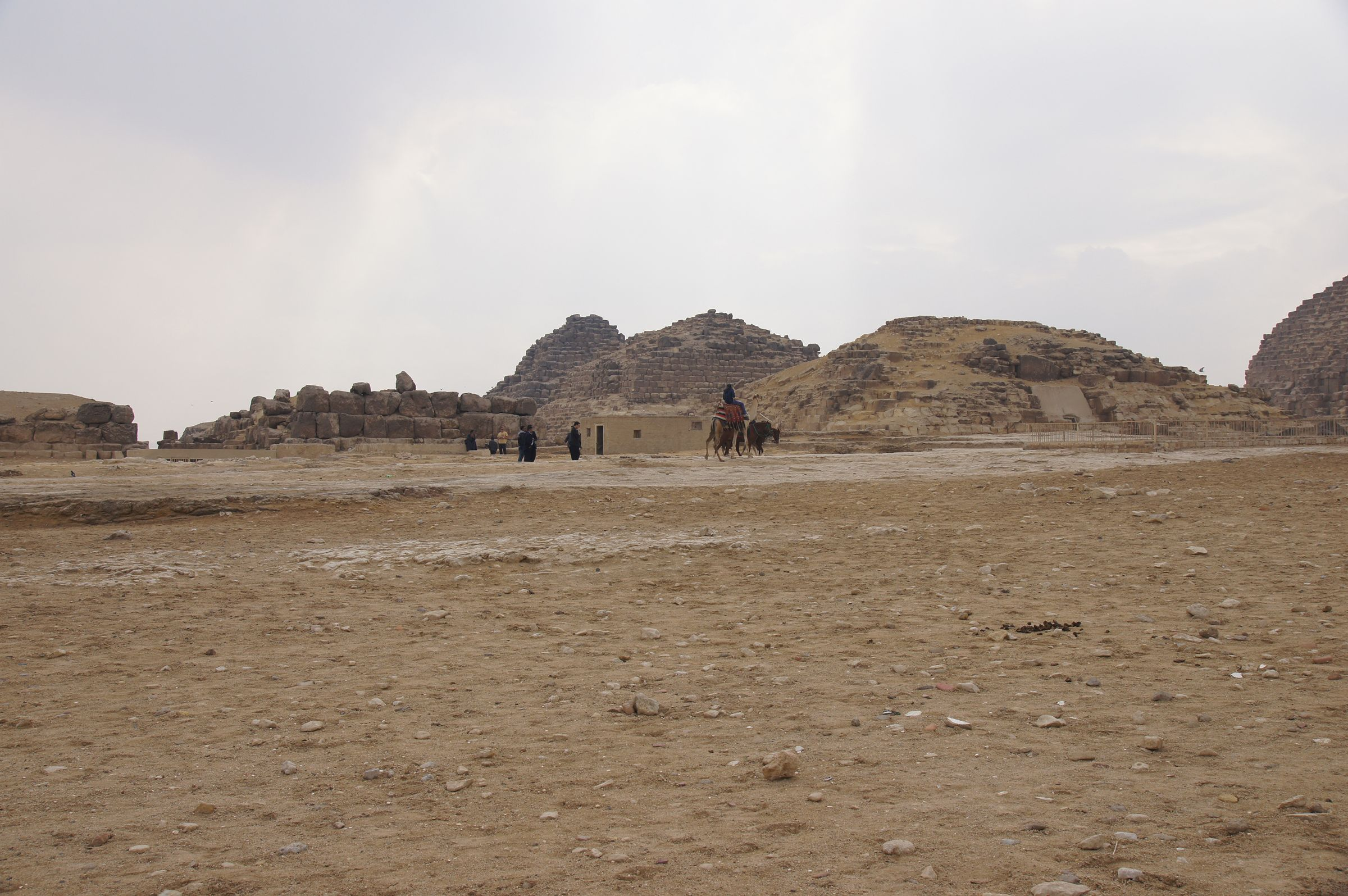 Eastern Cemetery and Khufu Pyramid Complex: Site: Giza; View: G 7110-7120: G 7110, G 7210-7220: G 7120, G I-a, G I-b, G I-c, Khufu Pyramid