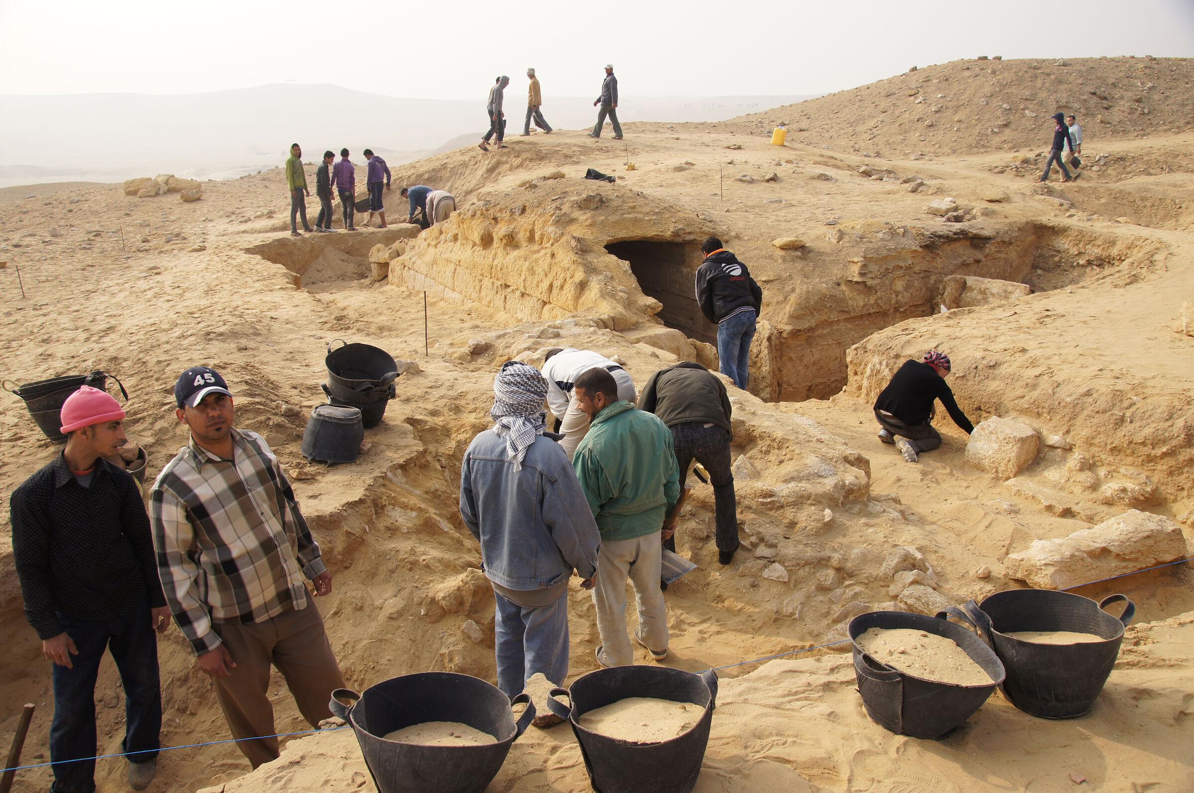 Menkaure Pyramid Complex: Site: Giza; View: Menkaure Pyramid Complex