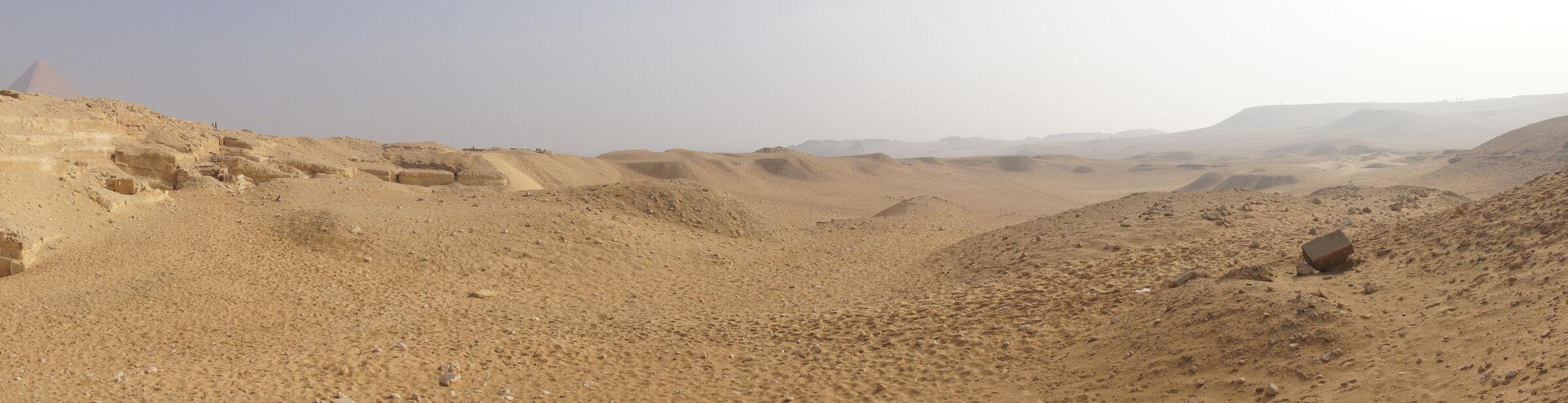 Menkaure Quarry Cemetery: Site: Giza; View: MQ 132, MQ 133, MQ 102, MQ 500, MQ 502