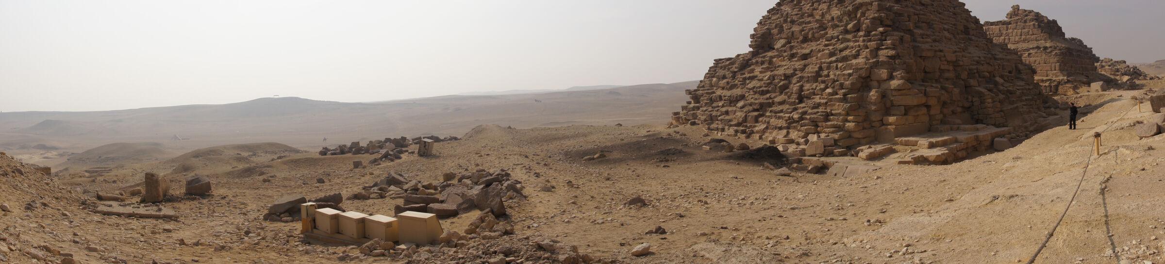 Menkaure Pyramid Complex: Site: Giza; View: G III-a, G III-b, G III-c