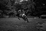 Donathan Jones, 15, bucks his horse, Quinn, on a vacant lot in Colfax, Louisiana on May 8, 2017.