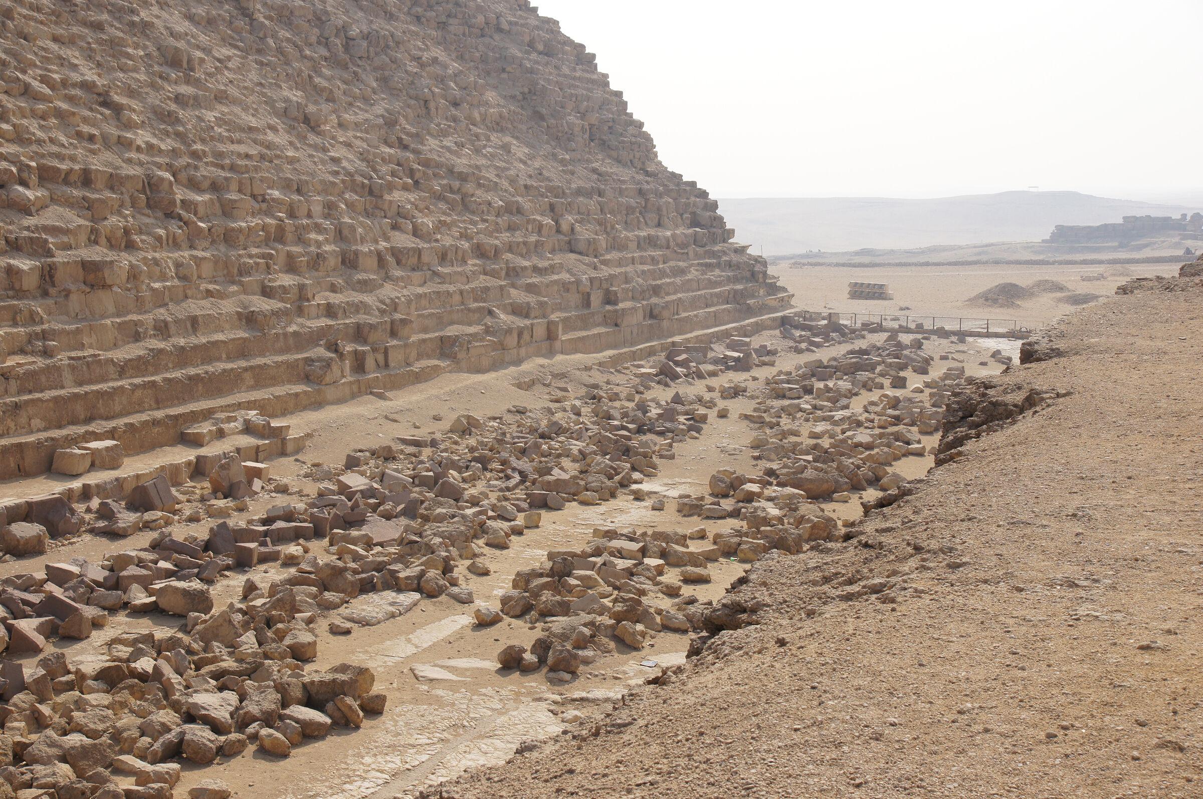 Khafre Pyramid Complex: Site: Giza; View: Khafre Pyramid, Menkaure Pyramid Temple