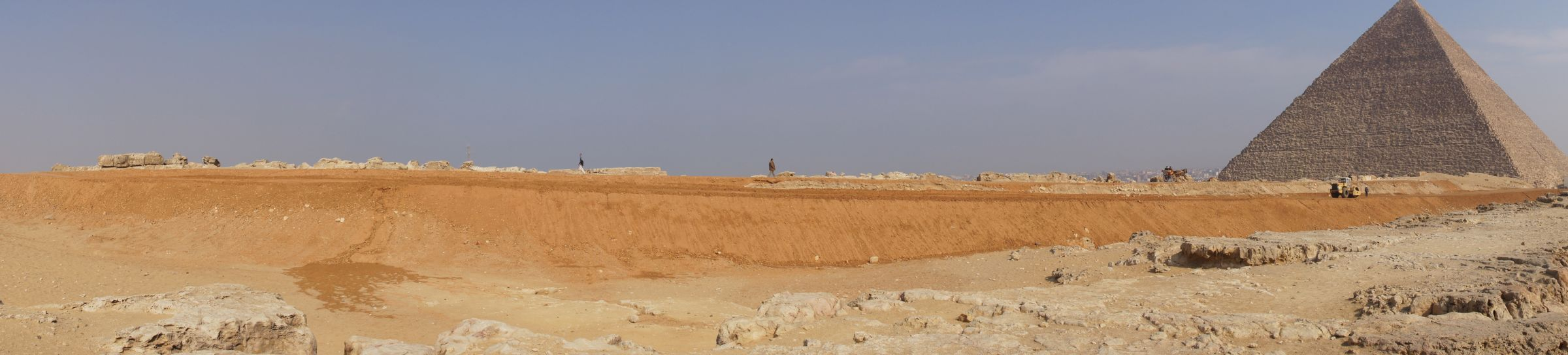 General view: Site: Giza; View: Western Cemetery, Khufu Pyramid