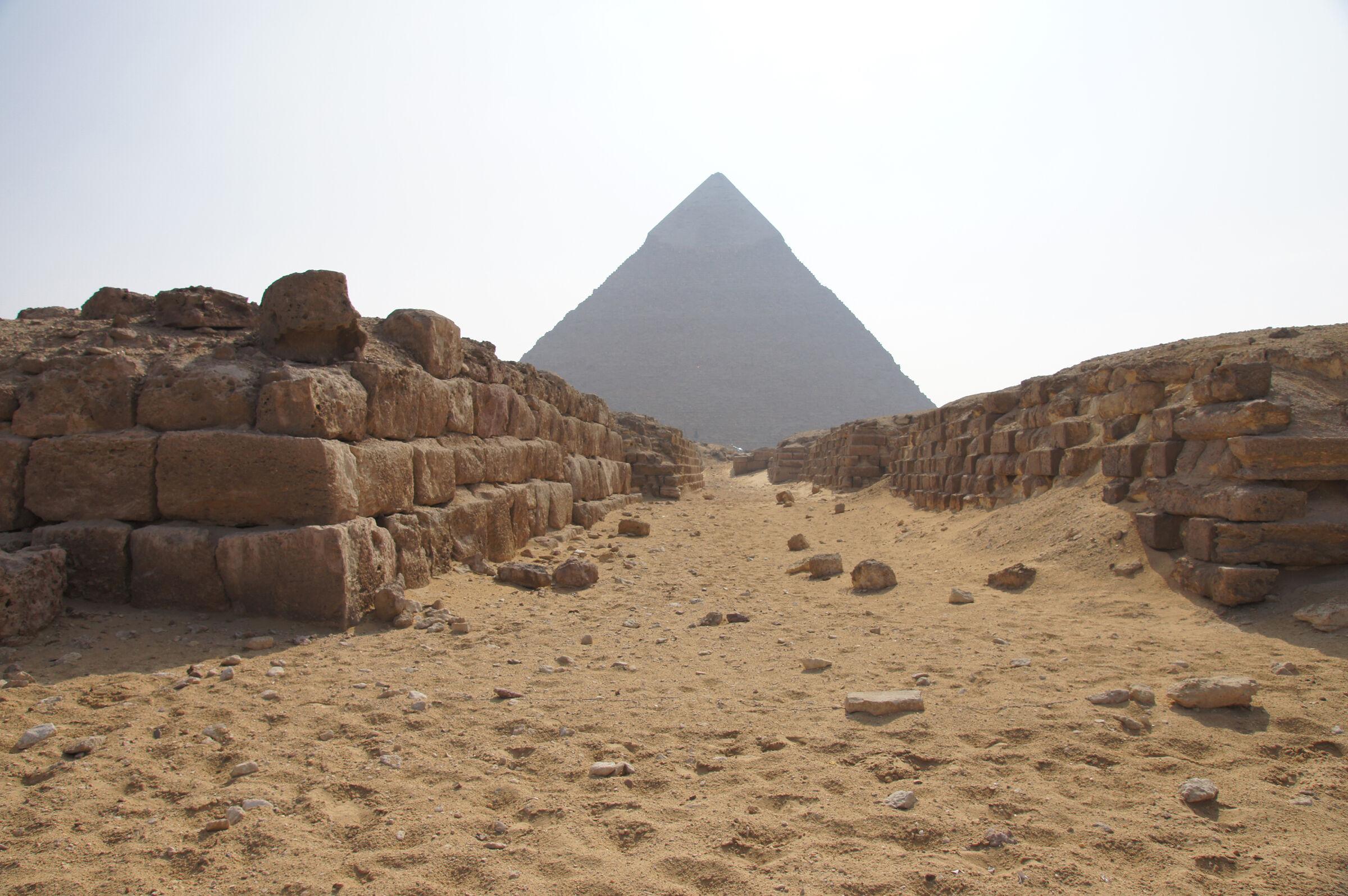 Western Cemetery: Site: Giza; View: G 4260, G 4360, Khafre Pyramid