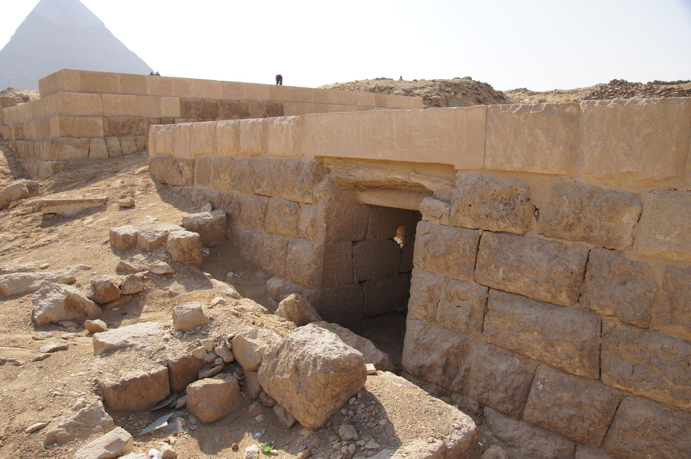 Western Cemetery: Site: Giza; View: G 2197, G 5190, Khafre Pyramid