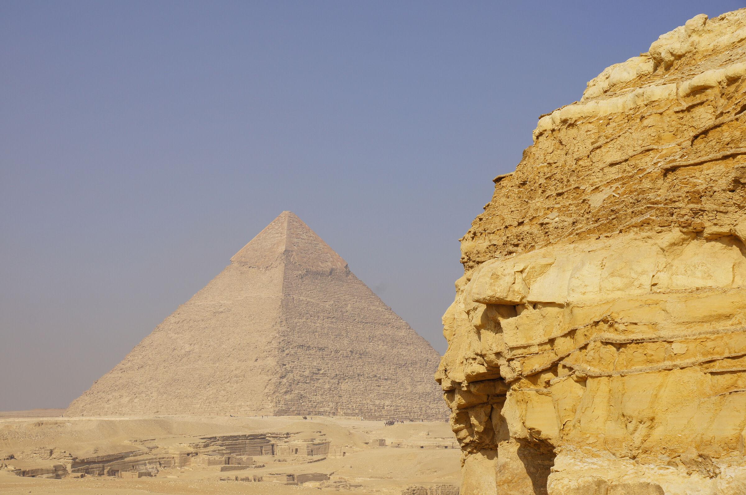 General View: Site: Giza; View: Southern Mount, Khafre Pyramid