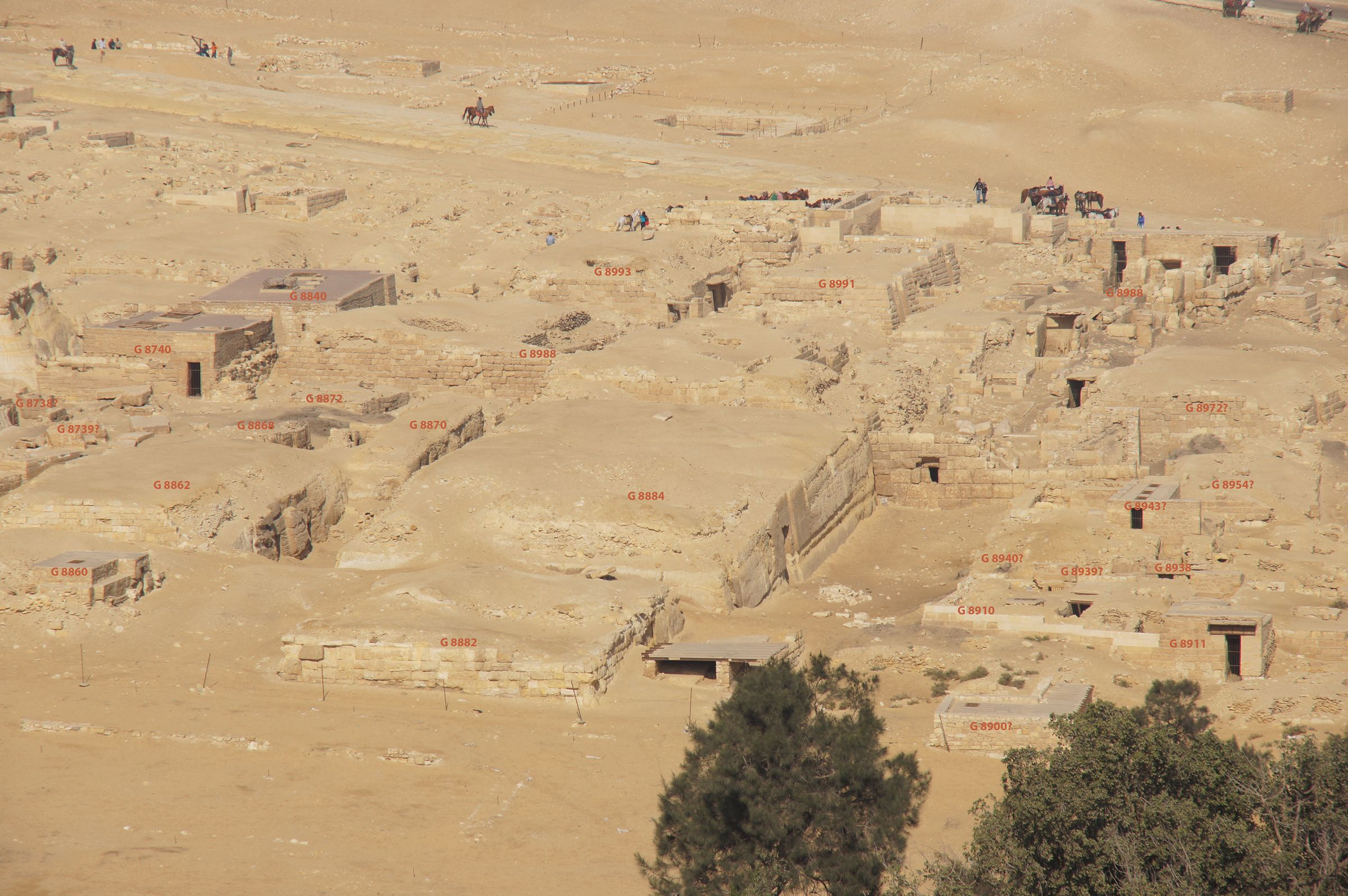 Central Field (Hassan): Site: Giza; View: G 8738, G 8739, G 8740, G 8840, G 8860, G 8862, G 8868, G 8870, G 8872, G 8988, G 8887, G 8888, G 8893, G 8882, G 8884, G 8990, G 8989, G 8992, G 8991, G 8900, G 8910, G 8911, G 8912, G 8940, G 8939, G 8938, G 8943, G 8954, G 8972