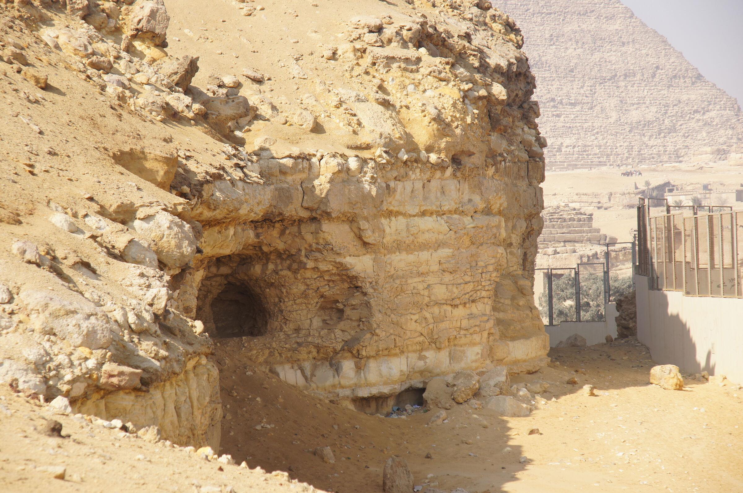 South Giza: Site: Giza; View: Southern Mount, Khafre Pyramid