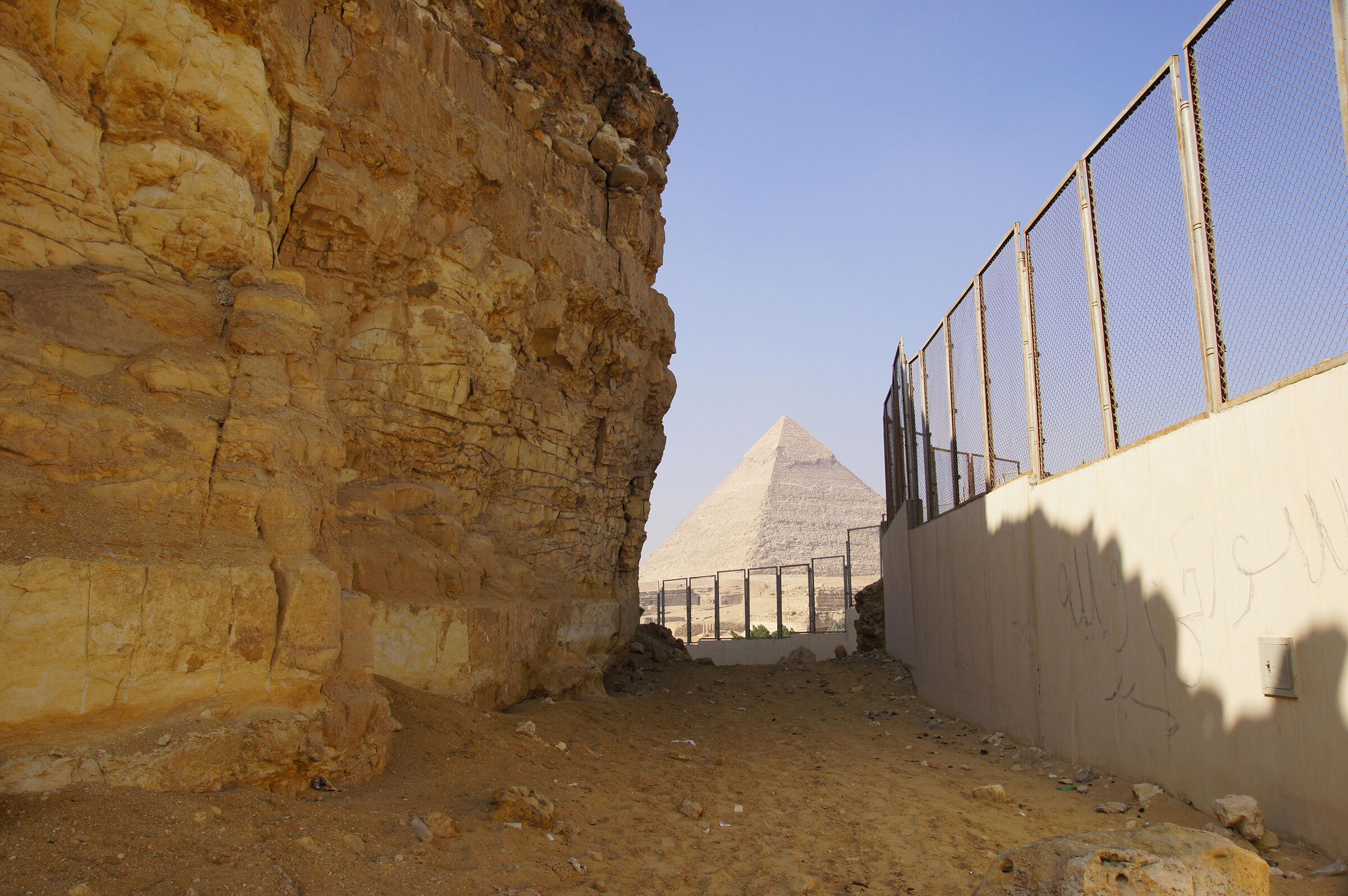South Giza: Site: Giza; View: Southern Mount, Muslim Cemetery, Khafre Pyramid