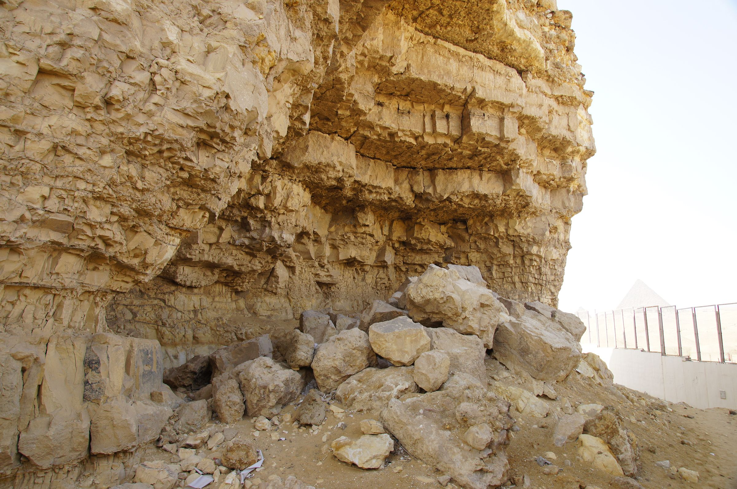 South Giza: Site: Giza; View: Southern Mount, Muslim Cemetery, Menkaure Pyramid