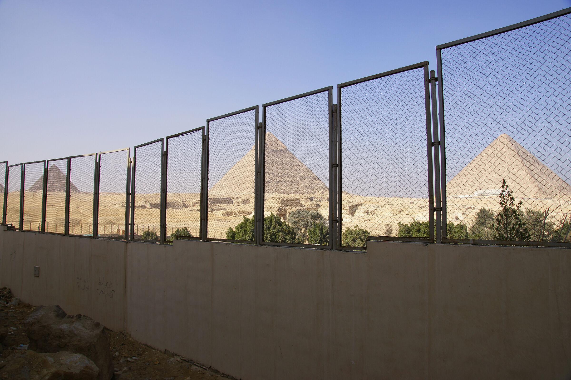 General View: Site: Giza; View: Giza Plateau, Muslim Cemetery