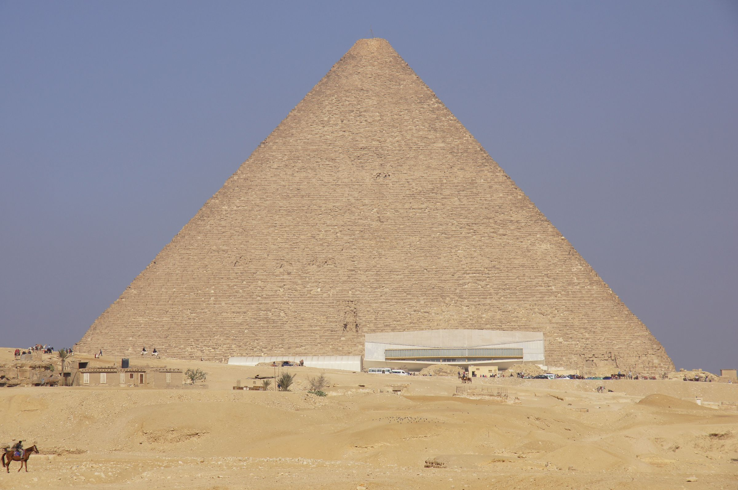 General View: Site: Giza; View: Khufu Pyramid, Khufu Boat Museum