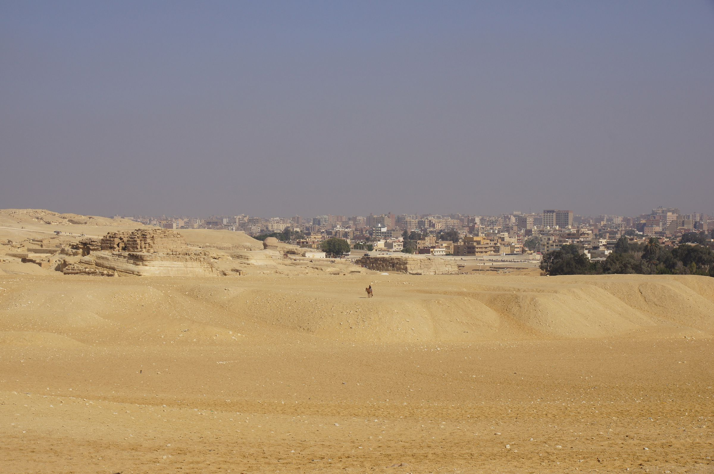 General View: Site: Giza; View: G 8400, Sphinx, Khafre Valley Temple