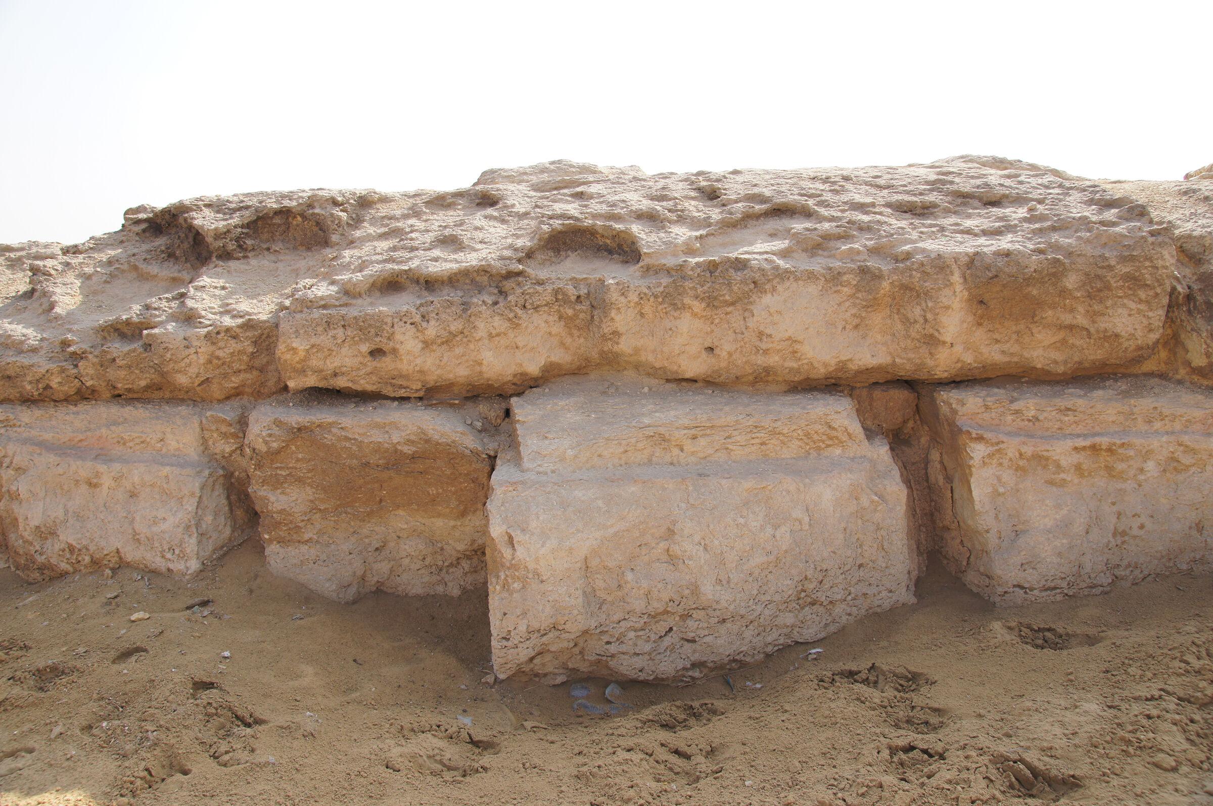 Menkaure Pyramid Complex: Site: Giza; View: Menkaure Causeway
