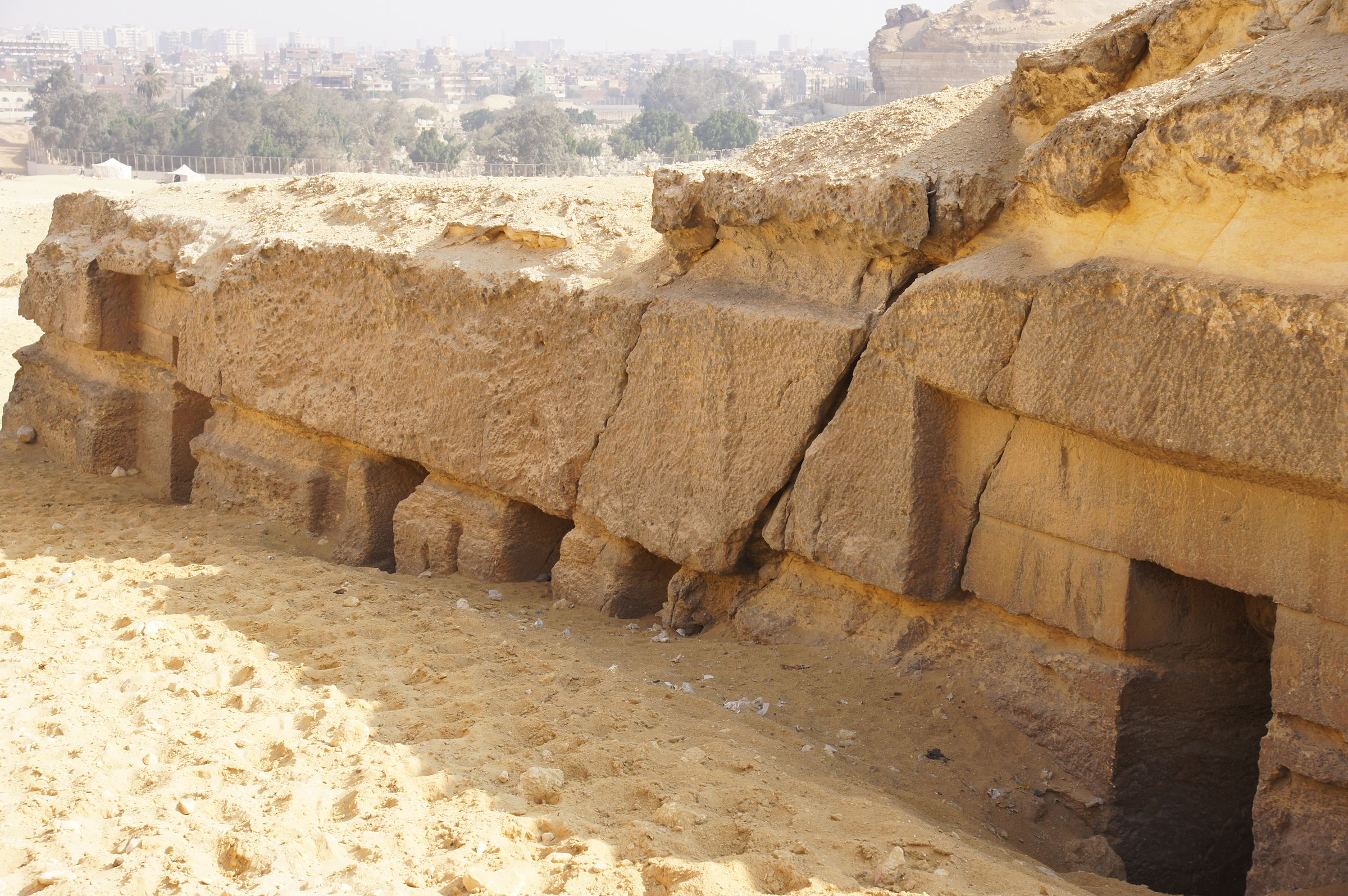 Central Field (Hassan): Site: Giza; View: G 8034, G 8036, G 8038, G 8040, G 8042