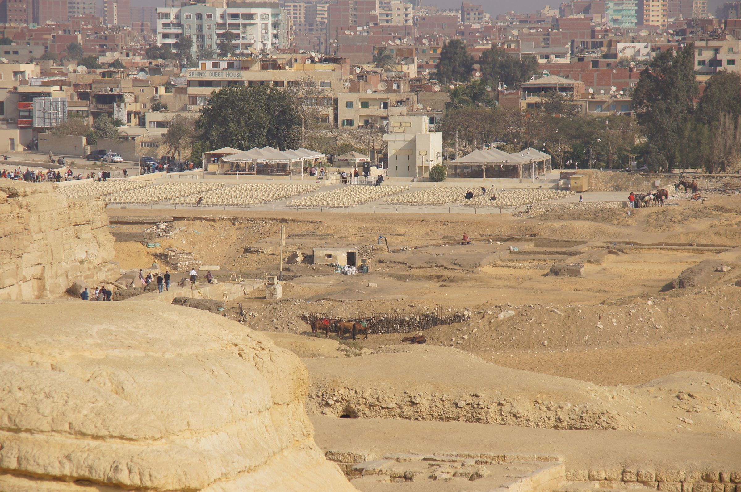General View: Site: Giza; View: G 8720, Khafre Valley Temple