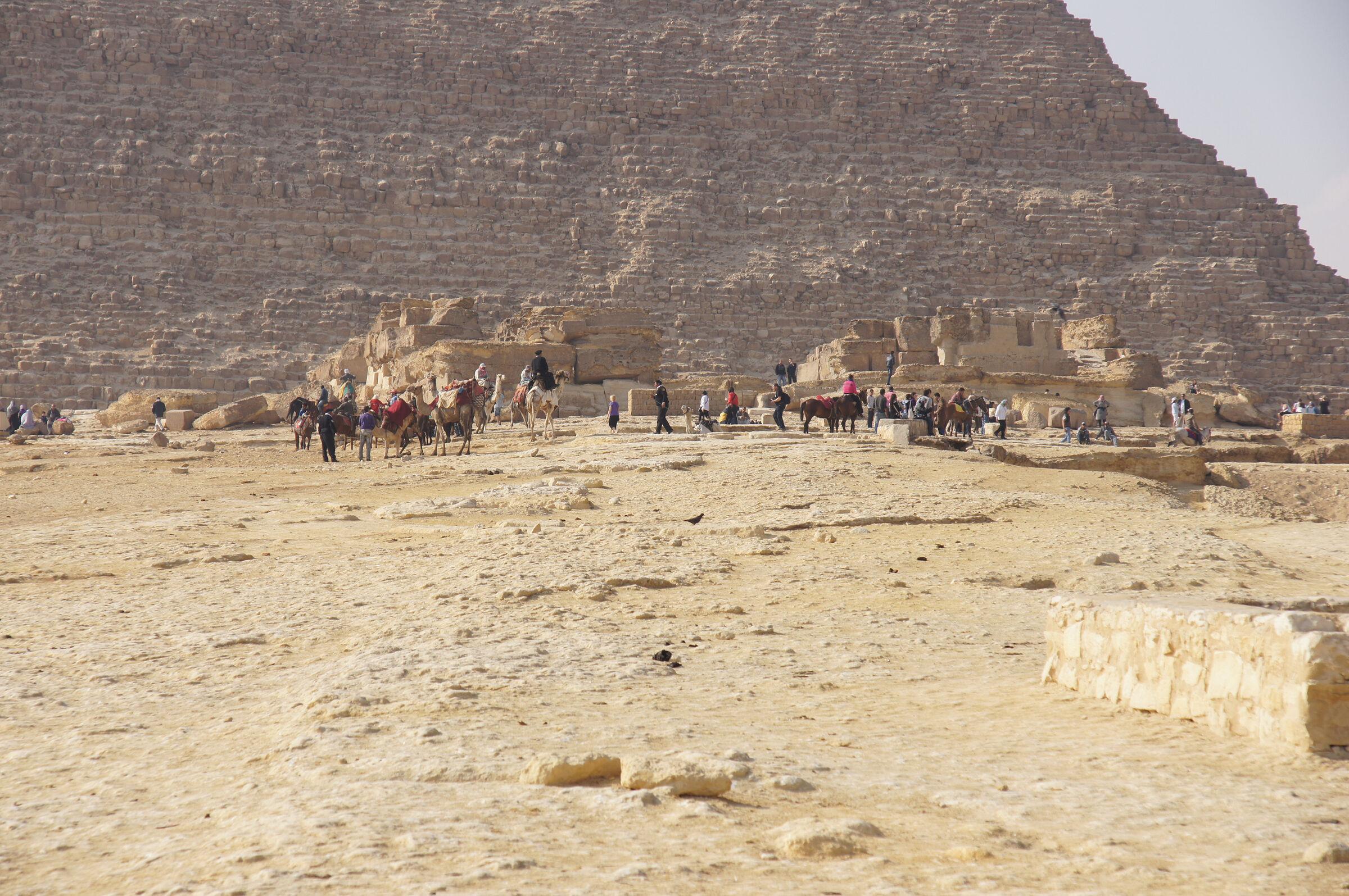 Khafre Pyramid Complex: Site: Giza; View: Khafre Causeway, Khafre Pyramid, Khafre Pyramid Temple
