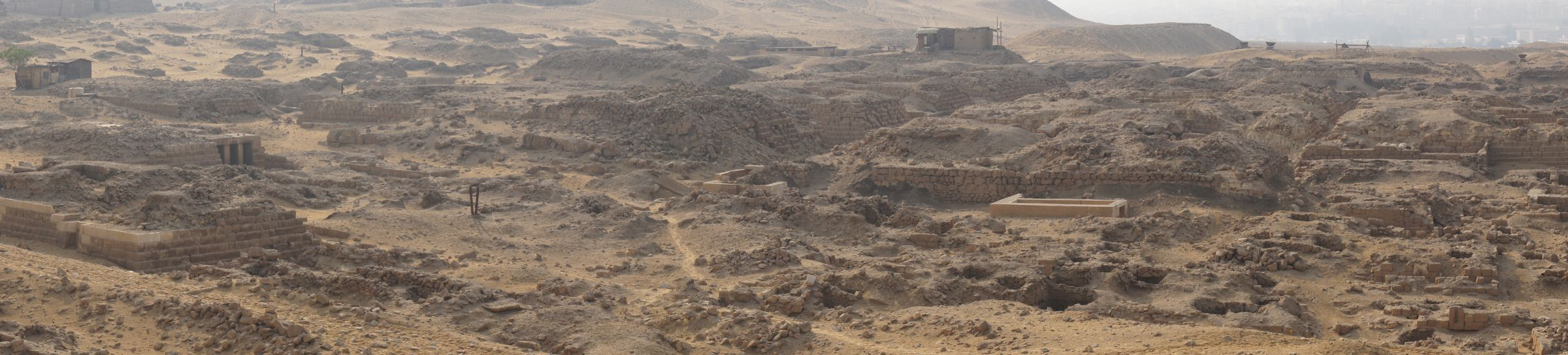 Western Cemetery: Site: Giza; View: Cemetery G 1200, G 1101, G 1151