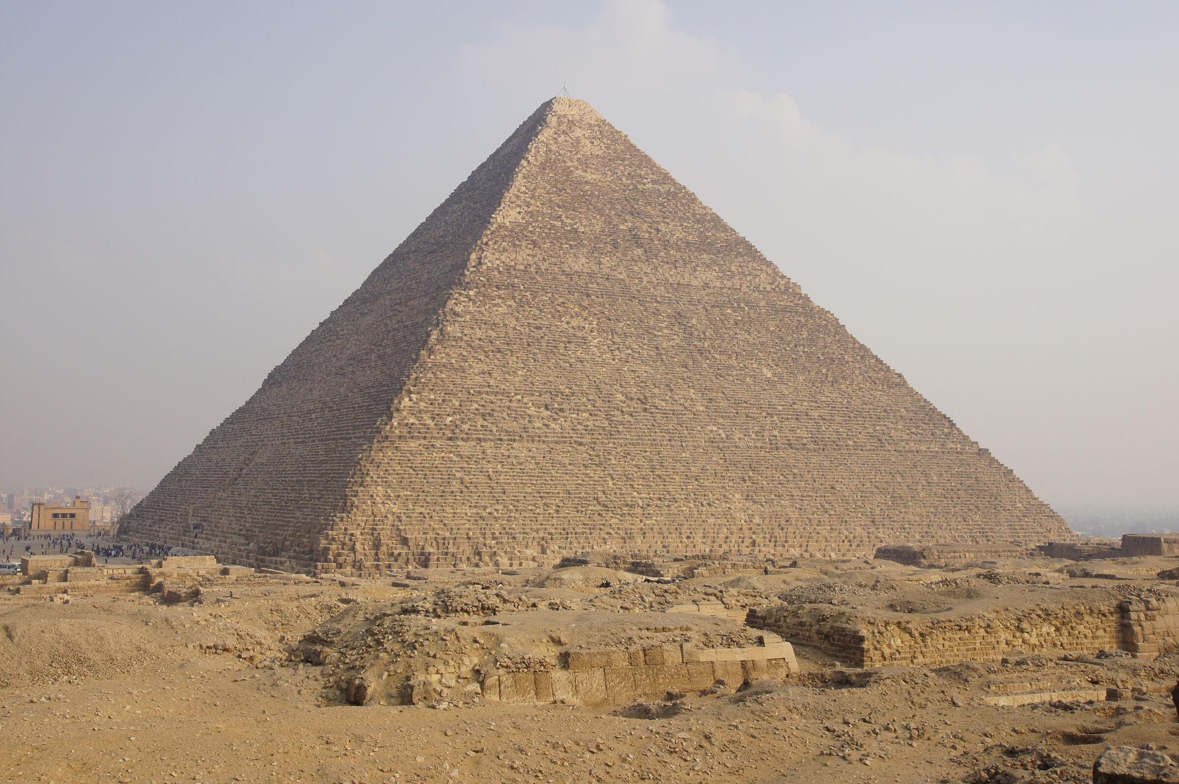 Western Cemetery: Site: Giza; View: G 2110, G 2100, Khufu Pyramid