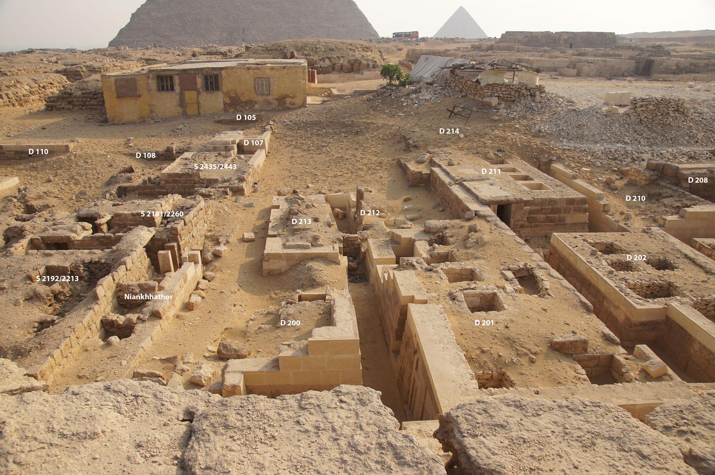 Western Cemetery: Site: Giza; View: D 110, D 108, S 2192/2213, S 2181/2260, S 2435/2443, D 107, D 105, D 200, D 213, D 201, D 212, D 202, D 211, D 214, D 210, D 208
