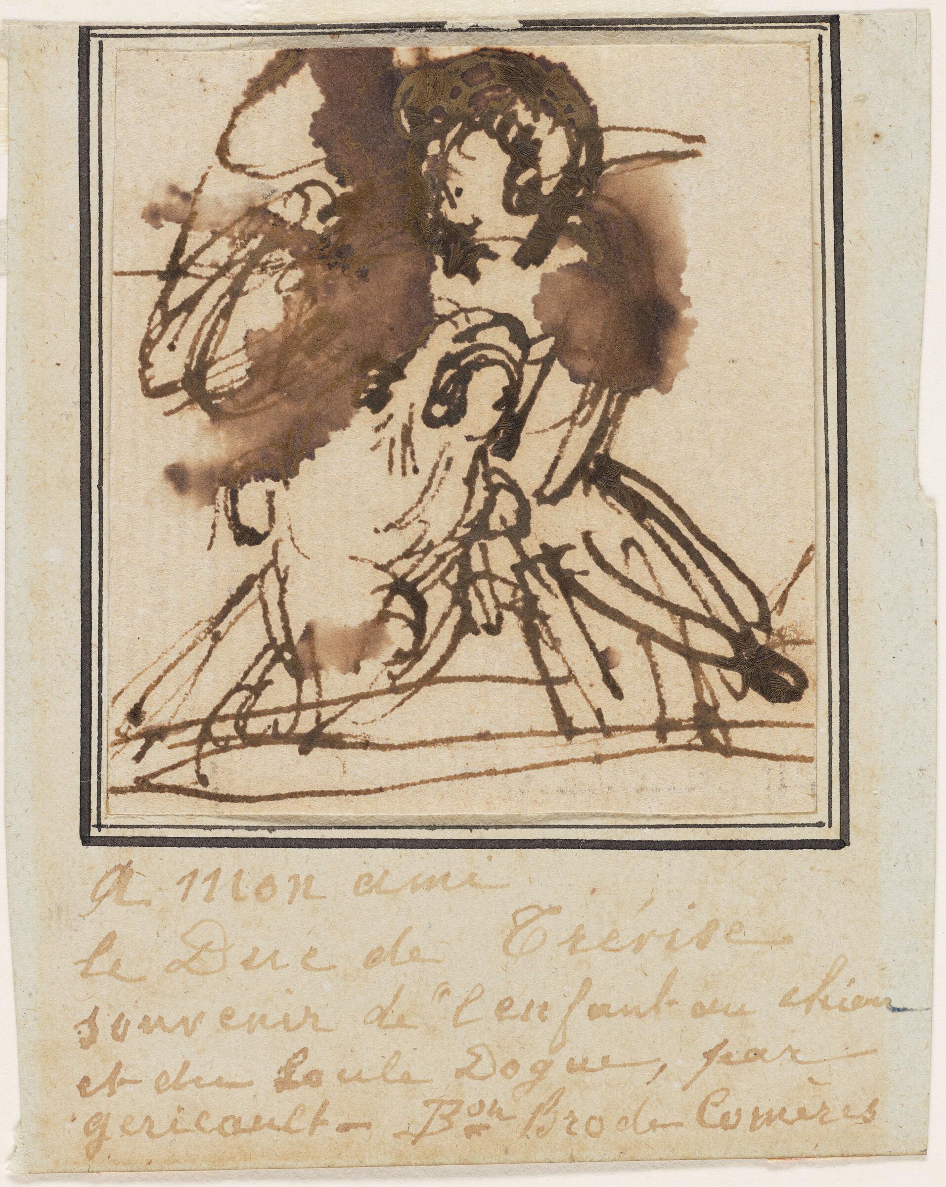 Sketch For Portrait Of Olivier Bro