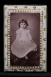 Photograph of young girl on porcelain Digital Object