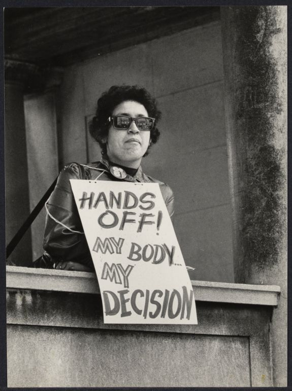 One of the first abortion demonstrations in Union Square