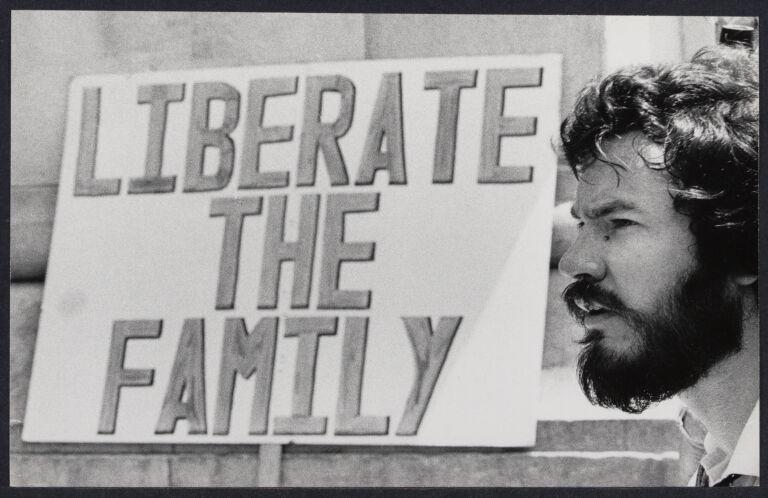 Warren Farrell at Men's liberation demonstration