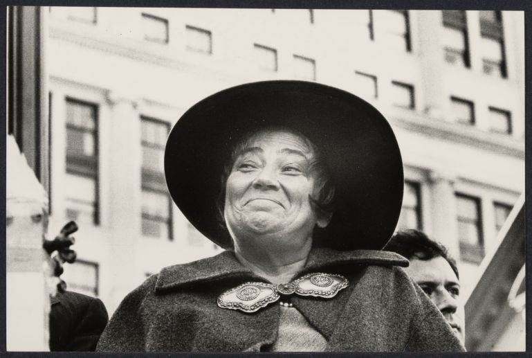 Bella Abzug attending Jewish Rally at the United Nation