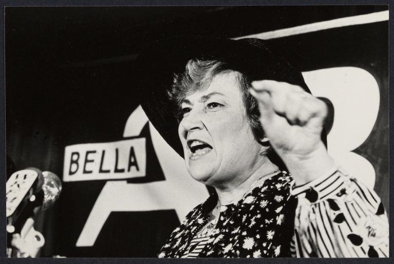 Bella Abzug announces her run for Mayor in New York City