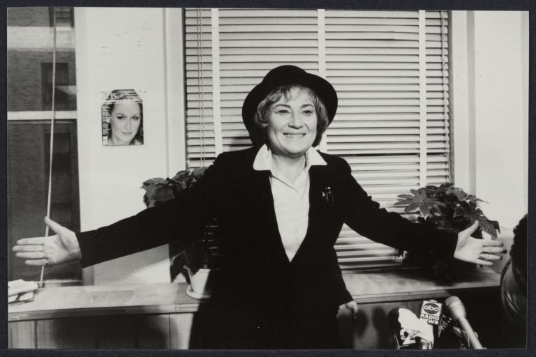 Bella Abzug press conference at MS. Magazine