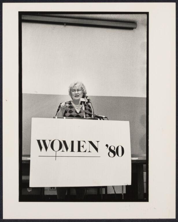 Bella Abzug at Women '80 press conference