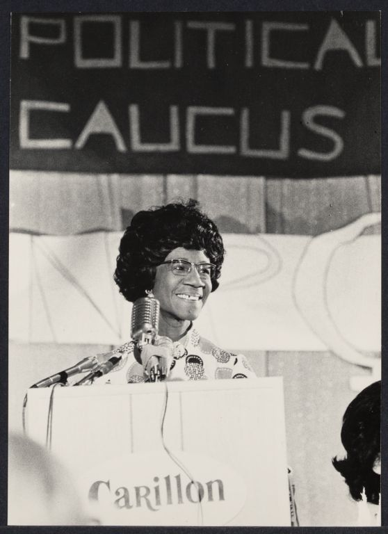 New York Congresswoman Shirley Chisholm at Democratic Convention in Miami