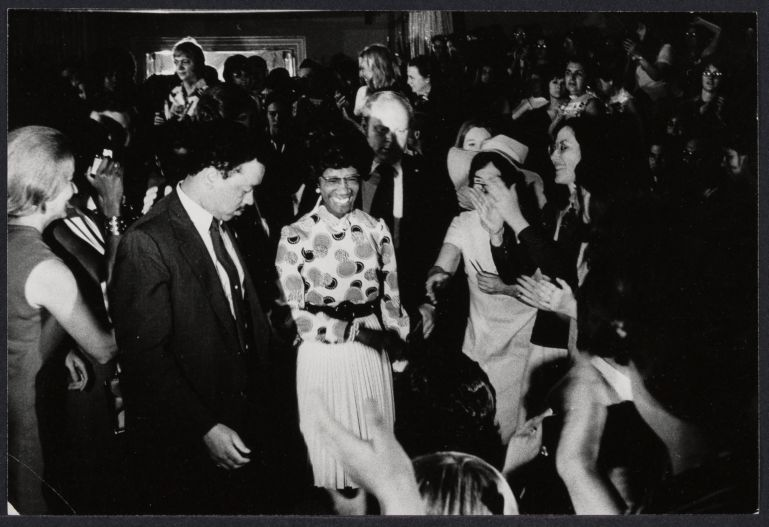 New York Congresswoman Shirley Chisholm at the Democratic National Convention in Miami
