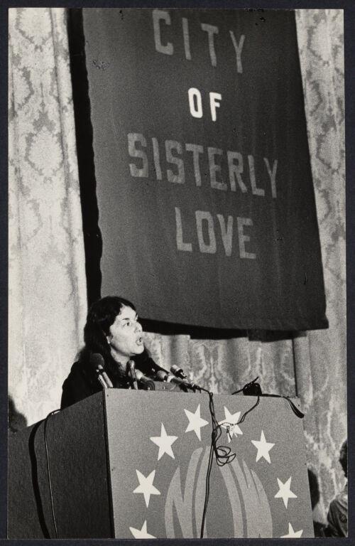 Karen DeCrow at NOW conference in Philadelphia