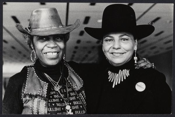 Flo Kennedy with LaDonna Harris