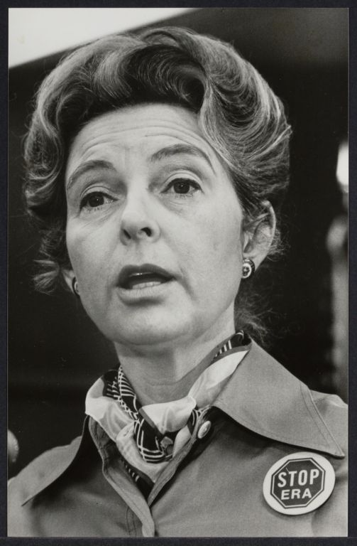 Phyllis Schlafly at press conference at International Women's Year