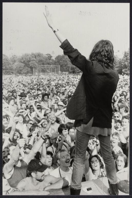 Punk rock singer Patti Smith