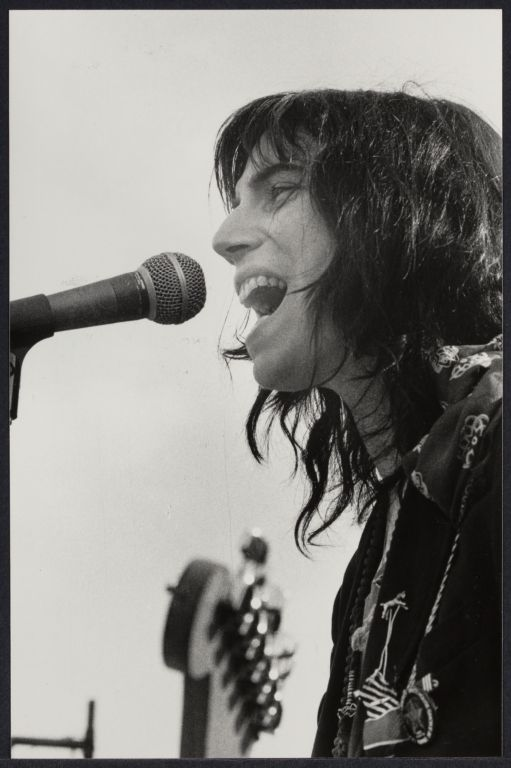 Punk rock singer Patti Smith in Central Park