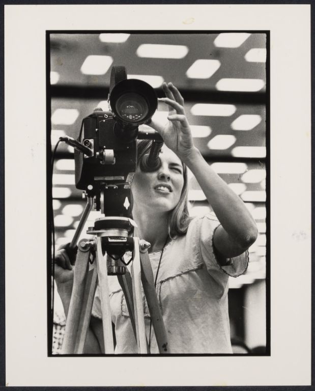 A camerawoman at NOW conference, Houston