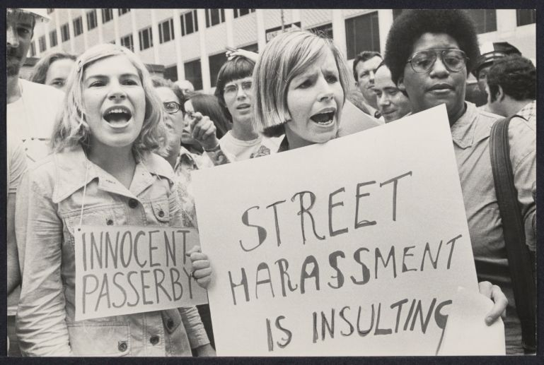 Street harassment demonstration