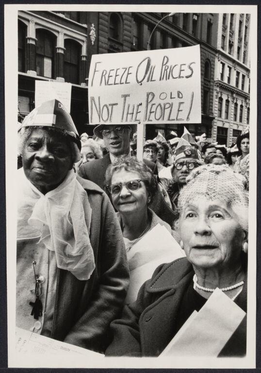 Elderly demonstrate against oil price hike