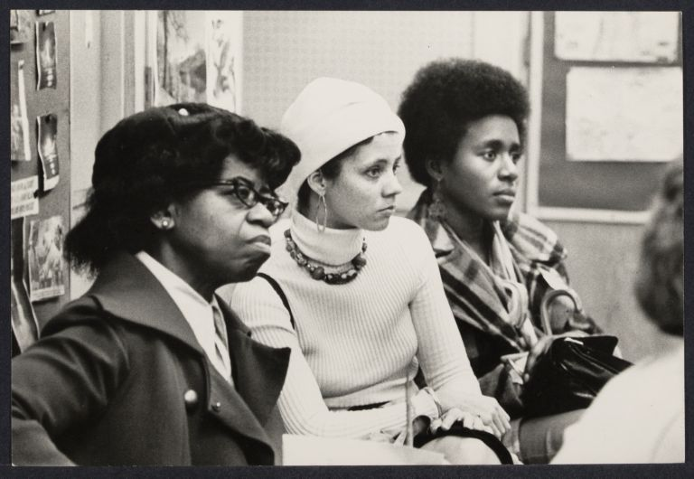 """""""Sexism in the Schools"""" conference at P.S. 41 about the changing roles of women in Africa and America"""
