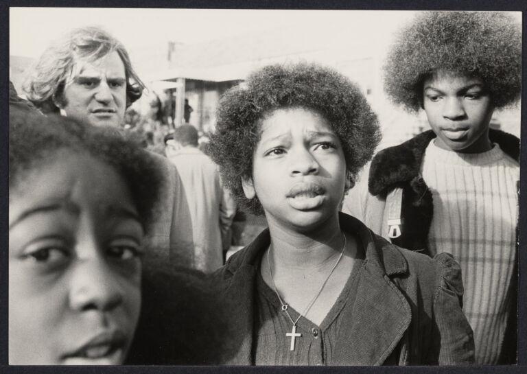 Black children at integration demonstration in Canarsie